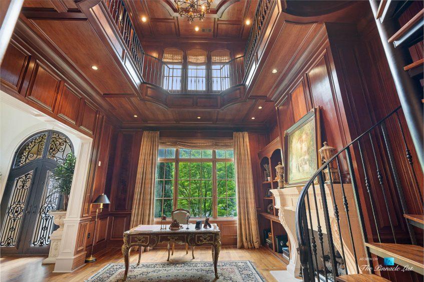 5705 Winterthur Ln, Sandy Springs, GA, USA - Atlanta Luxury Real Estate - Winterthur Estates Home - Two Storey Office Library