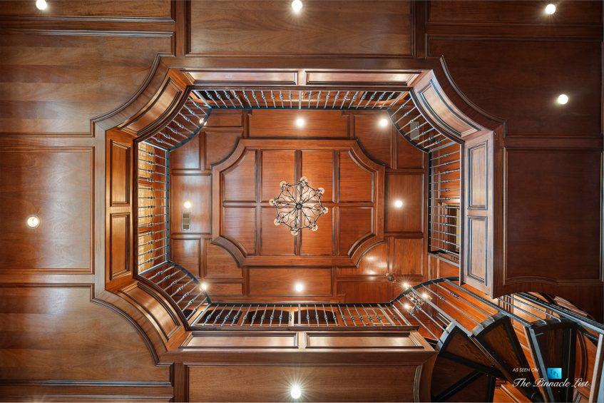 5705 Winterthur Ln, Sandy Springs, GA, USA - Atlanta Luxury Real Estate - Winterthur Estates Home - Wood Office Library Ceiling