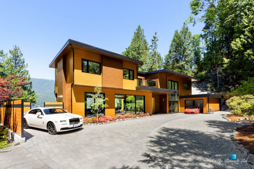 3350 Watson Rd, Belcarra, BC, Canada - Vancouver Luxury Real Estate - Modern Oceanfront Architectural Home with White Rolls-Royce and Red Ferrari