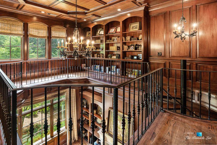 5705 Winterthur Ln, Sandy Springs, GA, USA - Atlanta Luxury Real Estate - Winterthur Estates Home - Office Library Second Level Stairs