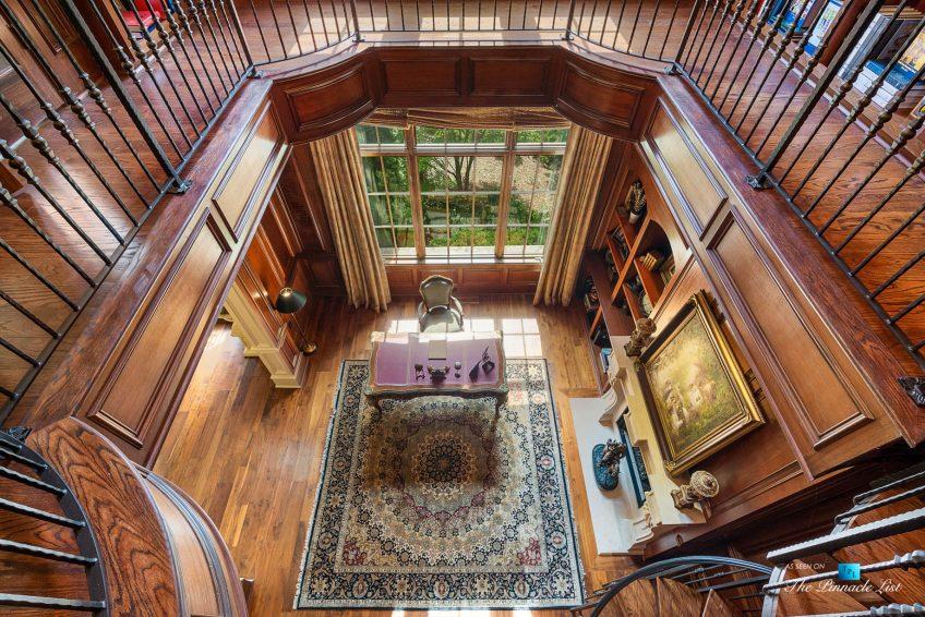 5705 Winterthur Ln, Sandy Springs, GA, USA - Atlanta Luxury Real Estate - Winterthur Estates Home - Office Library Second Level View