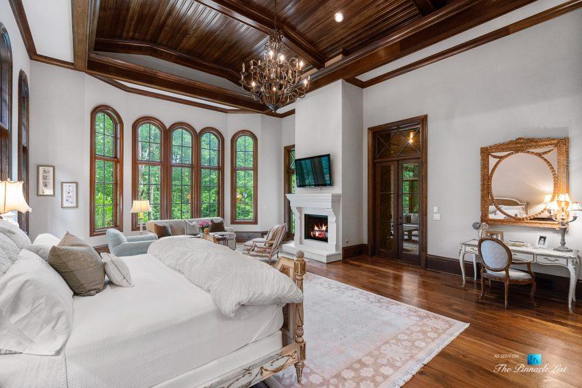 5705 Winterthur Ln, Sandy Springs, GA, USA - Atlanta Luxury Real Estate - Winterthur Estates Home - Master Bedroom Fireplace