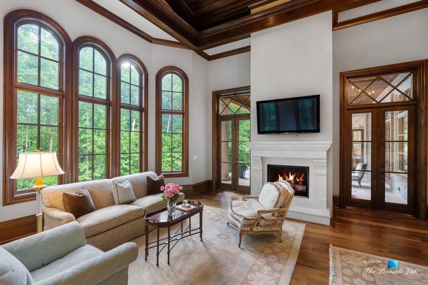 5705 Winterthur Ln, Sandy Springs, GA, USA - Atlanta Luxury Real Estate - Winterthur Estates Home - Master Bedroom Sitting Area Fireplace