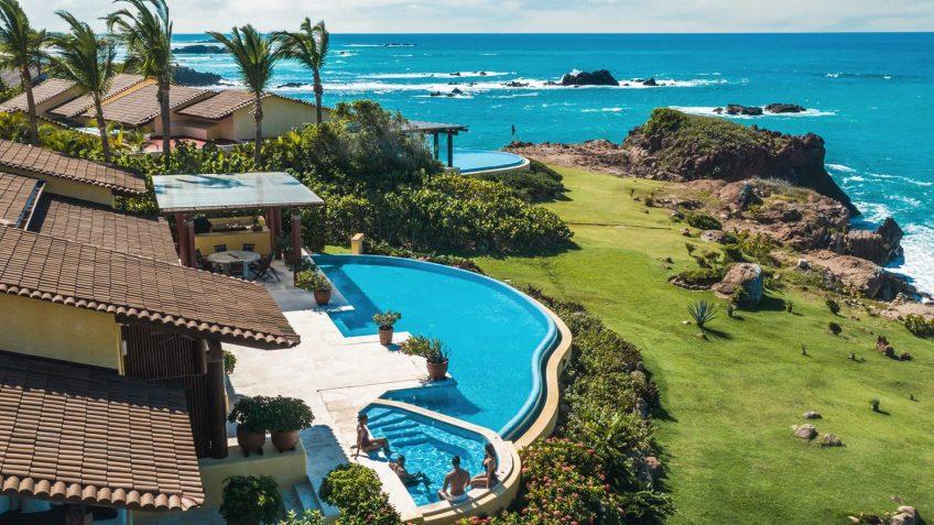 Four Seasons Luxury Resort Punta Mita - Nayarit, Mexico - Cielo Oceanfront Villa Pool Aerial