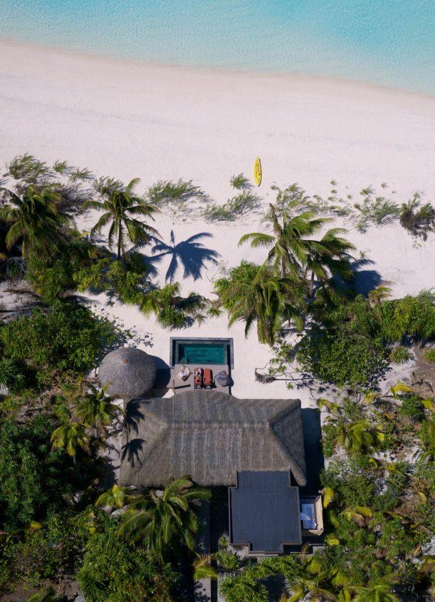The Brando Luxury Resort - Tetiaroa Private Island, French Polynesia - 1 Bedroom Villa Overhead Aerial View