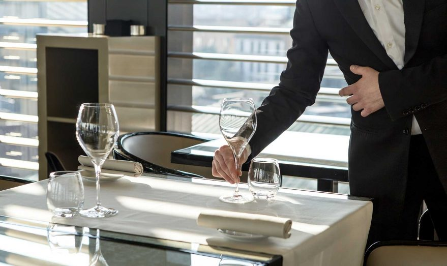 Armani Luxury Hotel Milano - Milan, Italy - Elegant Table Setting