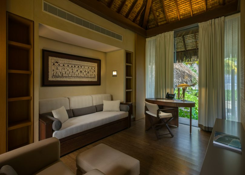 The Brando Luxury Resort - Tetiaroa Private Island, French Polynesia - 1 Bedroom Beachfront Villa Living Room