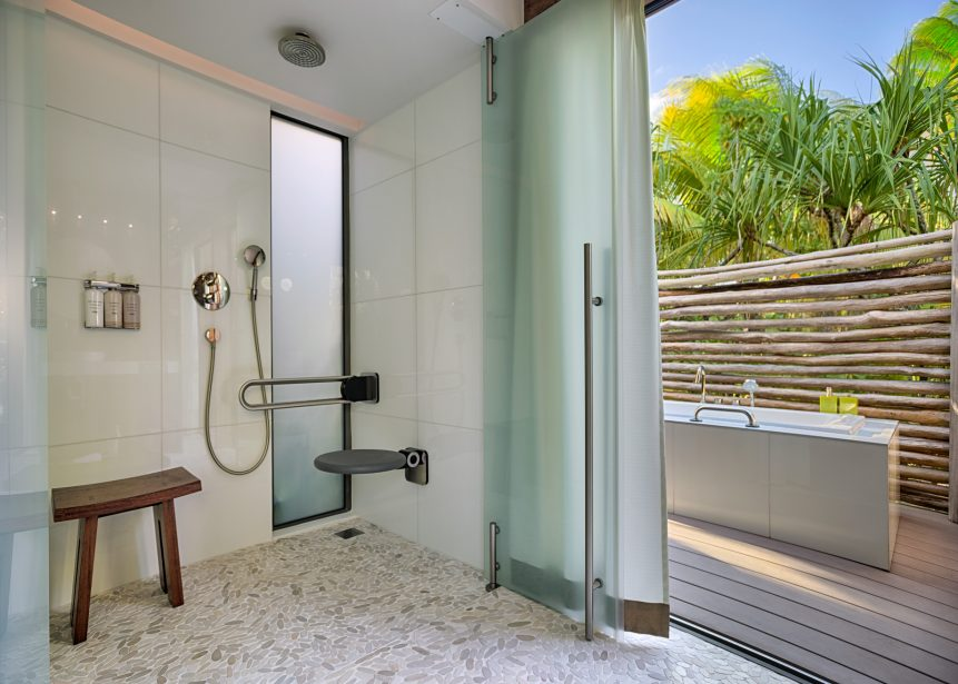 The Brando Luxury Resort - Tetiaroa Private Island, French Polynesia - 1 Bedroom Beachfront Villa Bathroom Shower
