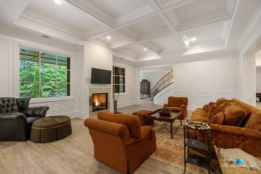 5705 Winterthur Ln, Sandy Springs, GA, USA - Atlanta Luxury Real Estate - Winterthur Estates Home - Recreation Room Fireplace