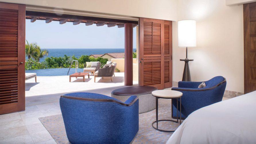 Four Seasons Luxury Resort Punta Mita - Nayarit, Mexico - Luna Ocean Villa Bedroom Deck View