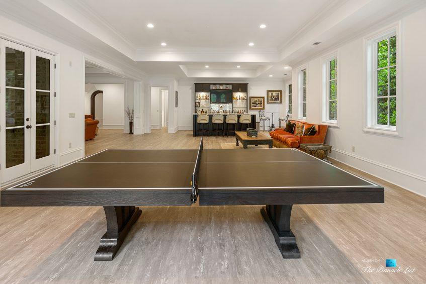 5705 Winterthur Ln, Sandy Springs, GA, USA - Atlanta Luxury Real Estate - Winterthur Estates Home - Recreation Room and Bar