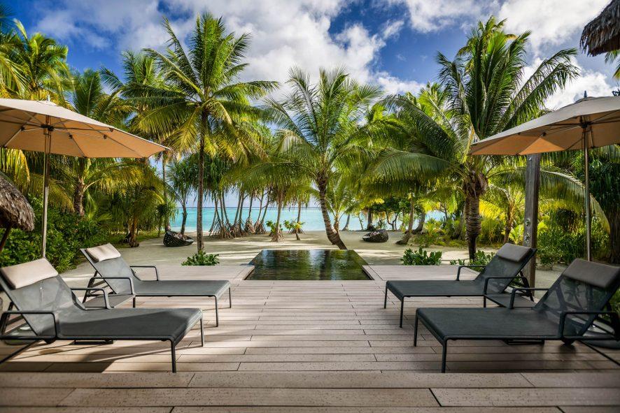 The Brando Luxury Resort - Tetiaroa Private Island, French Polynesia - 2 Bedroom Beachfront Villa Infinity Pool Deck