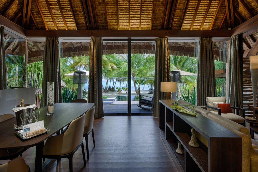 The Brando Luxury Resort - Tetiaroa Private Island, French Polynesia - 2 Bedroom Beachfront Villa Living Room