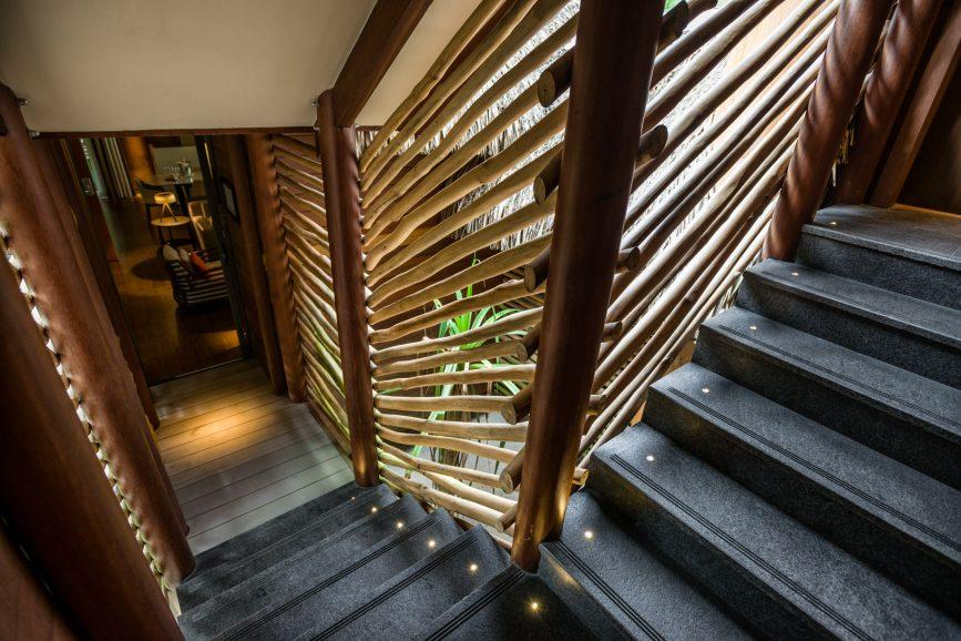 The Brando Luxury Resort - Tetiaroa Private Island, French Polynesia - 2 Bedroom Beachfront Villa Hallway Stairs