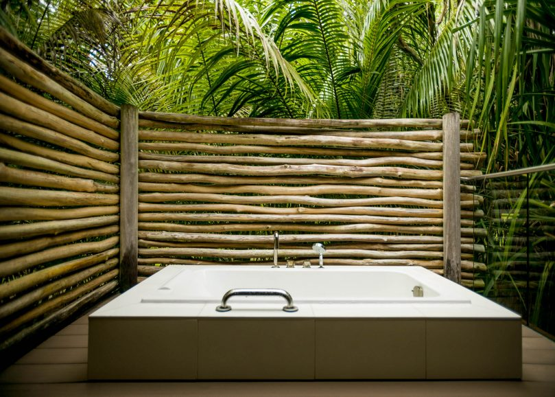 The Brando Luxury Resort - Tetiaroa Private Island, French Polynesia - 2 Bedroom Beachfront Villa Outside Bathtub