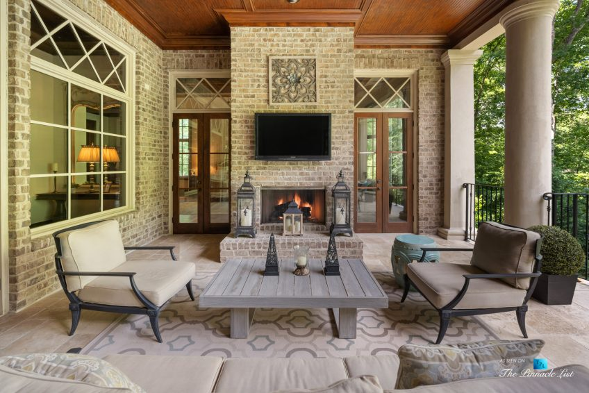 5705 Winterthur Ln, Sandy Springs, GA, USA - Atlanta Luxury Real Estate - Winterthur Estates Home - Outdoor Covered Terrace