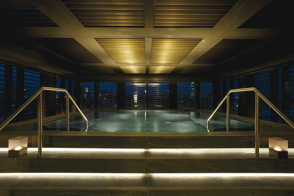 Armani Luxury Hotel Milano - Milan, Italy - Armani SPA Relaxation Pool Night View
