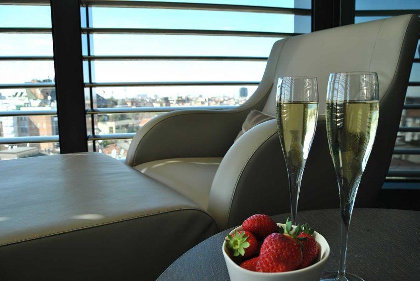 Armani Luxury Hotel Milano - Milan, Italy - Armani SPA Champagne and Strawberries