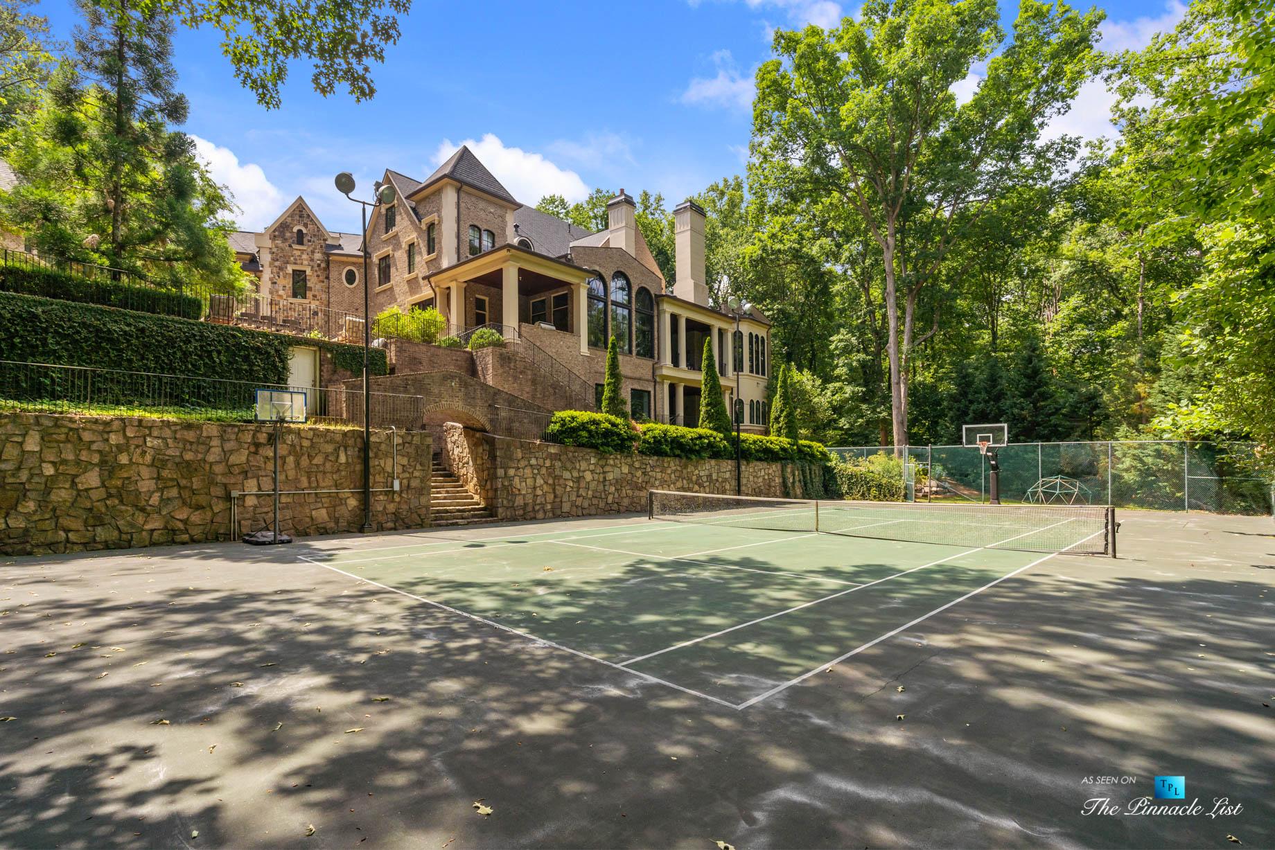 5705 Winterthur Ln, Sandy Springs, GA, USA – Atlanta Luxury Real Estate – Winterthur Estates Home – Backyard Tennis Court