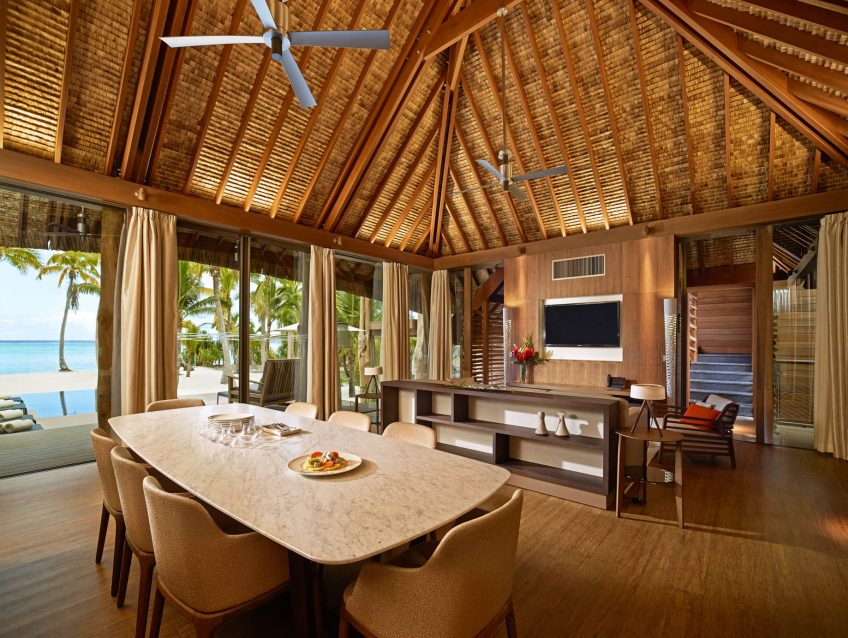 The Brando Luxury Resort - Tetiaroa Private Island, French Polynesia - 3 Bedroom Beachfront Villa Living Room