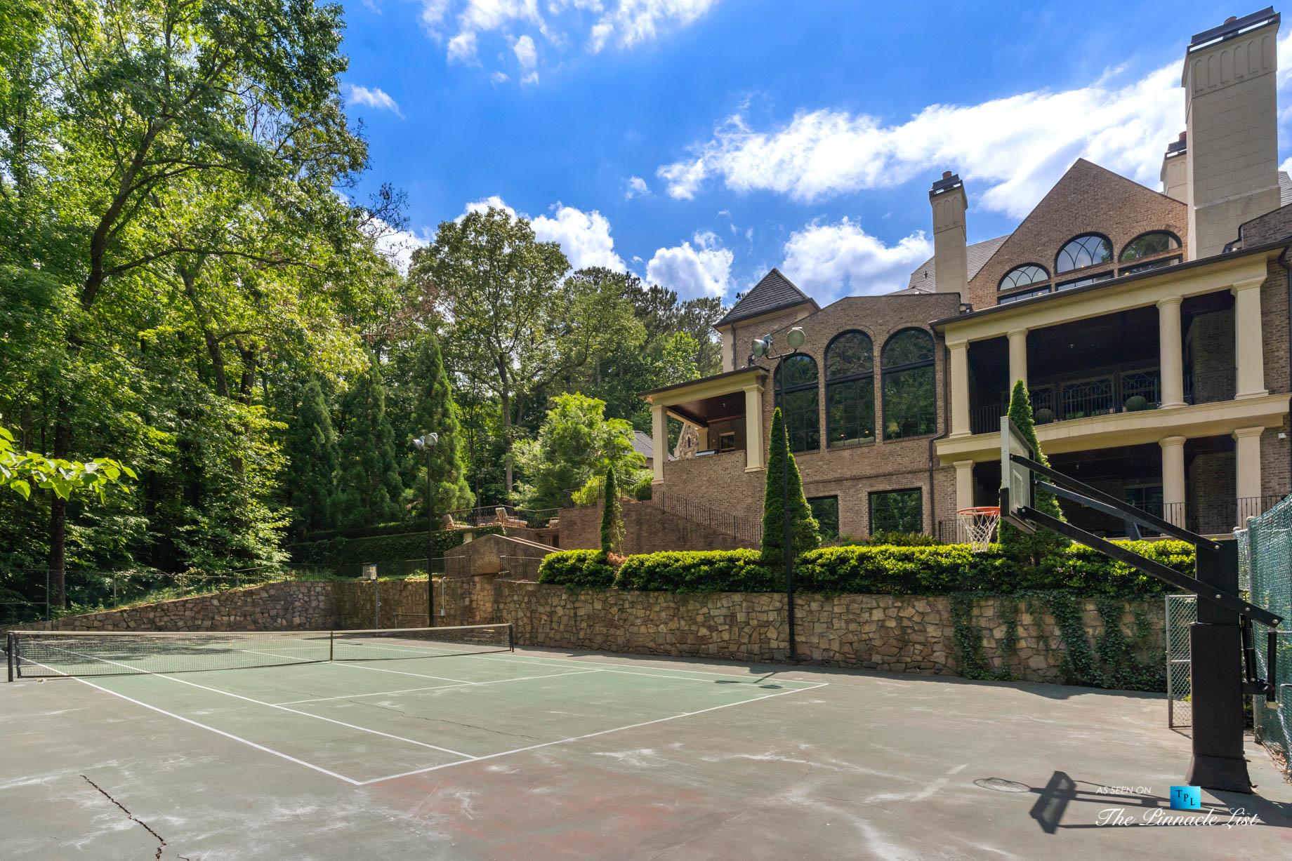 5705 Winterthur Ln, Sandy Springs, GA, USA – Atlanta Luxury Real Estate – Winterthur Estates Home – Rear Yard Tennis Court