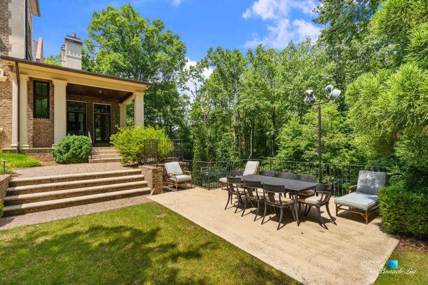 5705 Winterthur Ln, Sandy Springs, GA, USA - Atlanta Luxury Real Estate - Winterthur Estates Home - Backyard Deck