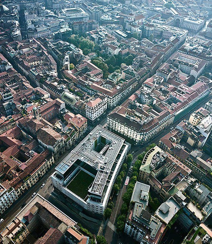 Armani Luxury Hotel Milano - Milan, Italy - Armani Hotel Aerial View