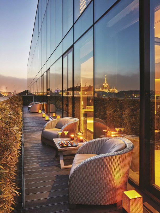 Armani Luxury Hotel Milano - Milan, Italy - Armani Premiere Terrace Room Sunset View