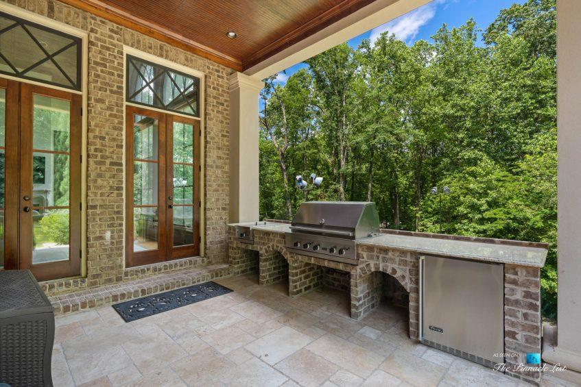 5705 Winterthur Ln, Sandy Springs, GA, USA - Atlanta Luxury Real Estate - Winterthur Estates Home - Deck Barbecue