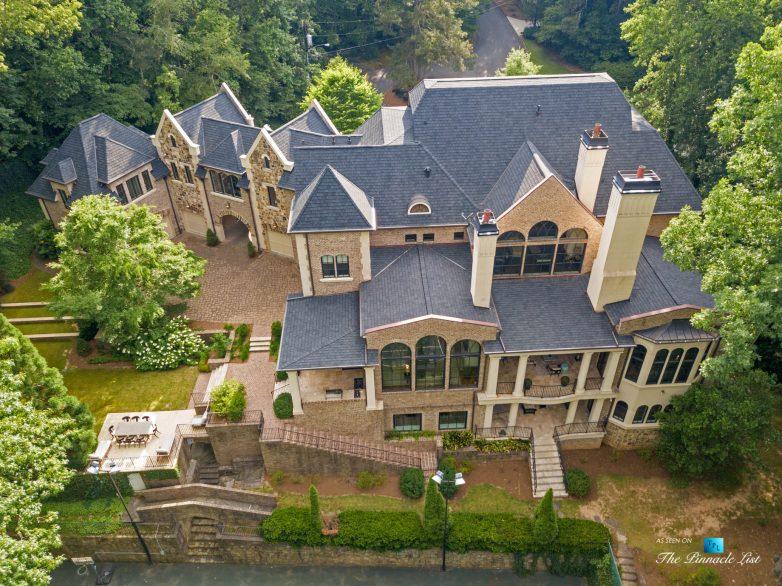 5705 Winterthur Ln, Sandy Springs, GA, USA - Atlanta Luxury Real Estate - Winterthur Estates Home - Backyard Property Aerial View