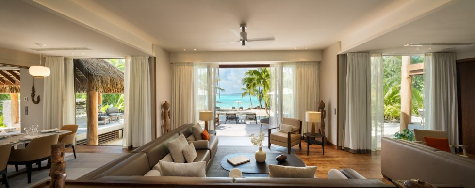 The Brando Luxury Resort - Tetiaroa Private Island, French Polynesia - The Brando Residence Living Room Ocean View