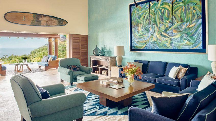 Four Seasons Luxury Resort Punta Mita - Nayarit, Mexico - Primavera Ocean View Villa Living Room View