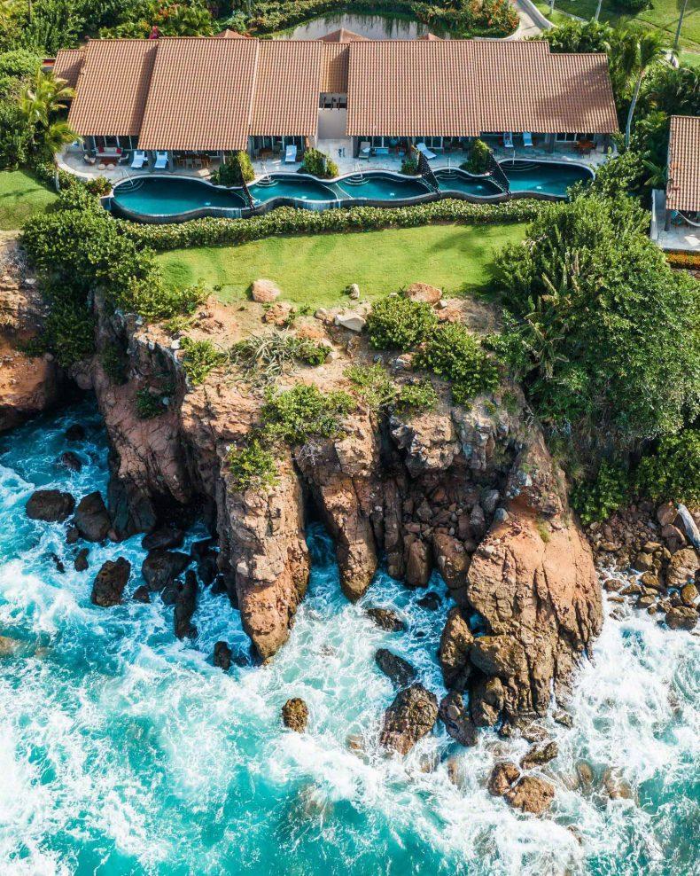 Four Seasons Luxury Resort Punta Mita - Nayarit, Mexico - Oceanfront Villa Aerial View