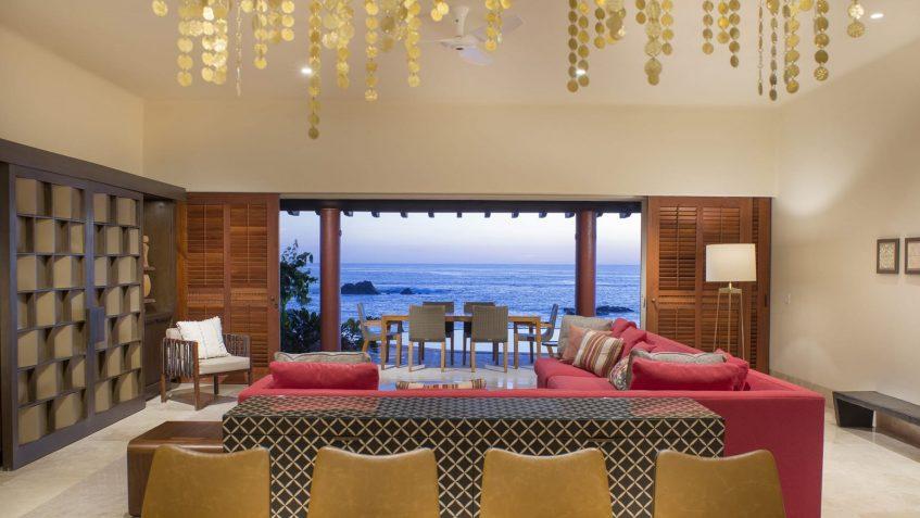 Four Seasons Luxury Resort Punta Mita - Nayarit, Mexico - Sol Oceanfront Villa Living Room View