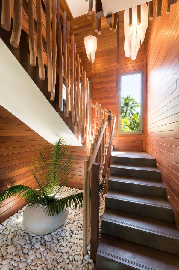 The Brando Luxury Resort - Tetiaroa Private Island, French Polynesia - The Brando Residence Stairs