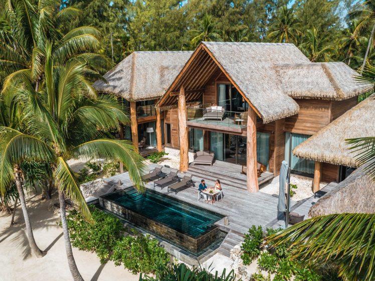 The Brando Luxury Resort - Tetiaroa Private Island, French Polynesia - The Brando Residence Aerial