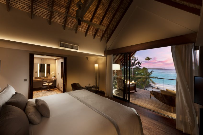 The Brando Luxury Resort - Tetiaroa Private Island, French Polynesia - Villa Bedroom Sunset