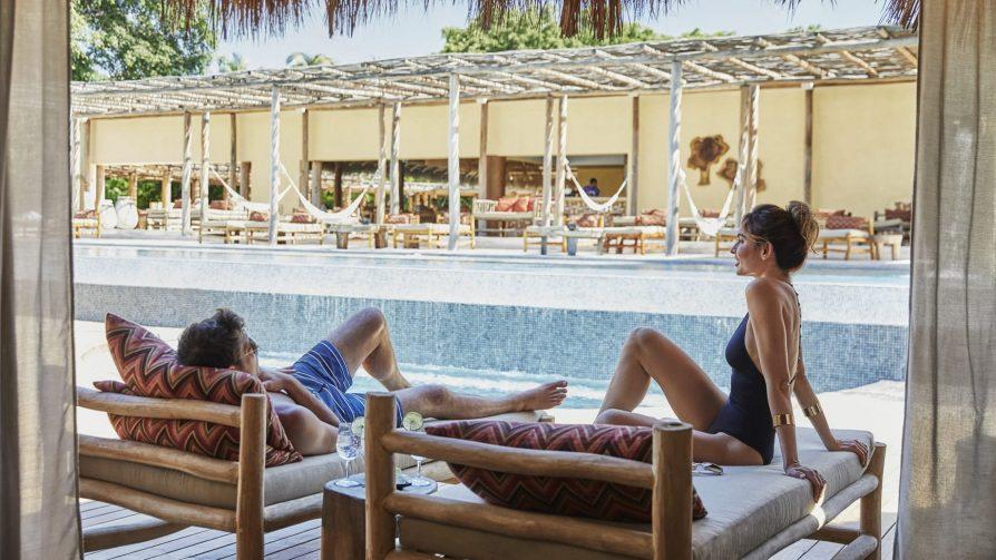 Four Seasons Luxury Resort Punta Mita - Nayarit, Mexico - Couple at Resort Pool Deck