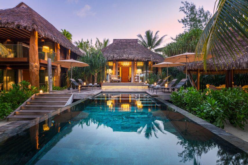 The Brando Luxury Resort - Tetiaroa Private Island, French Polynesia - 3 Bedroom Villa Exterior Sunrise