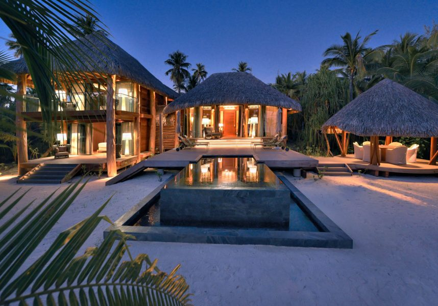 The Brando Luxury Resort - Tetiaroa Private Island, French Polynesia - 3 Bedroom Villa Dusk