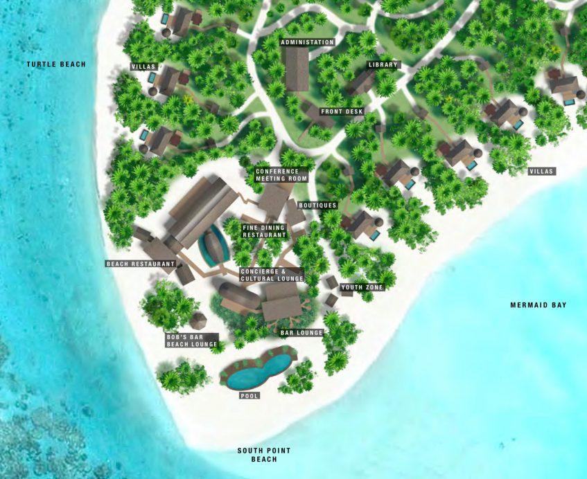 The Brando Luxury Resort - Tetiaroa Private Island, French Polynesia - Resort Public Areas Map