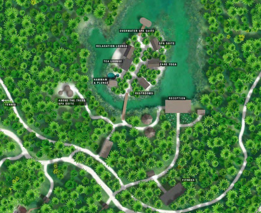 The Brando Luxury Resort - Tetiaroa Private Island, French Polynesia - Varua Polynesian Spa Map