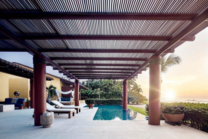 Four Seasons Luxury Resort Punta Mita - Nayarit, Mexico - Resort Villa Pool Deck Sunset