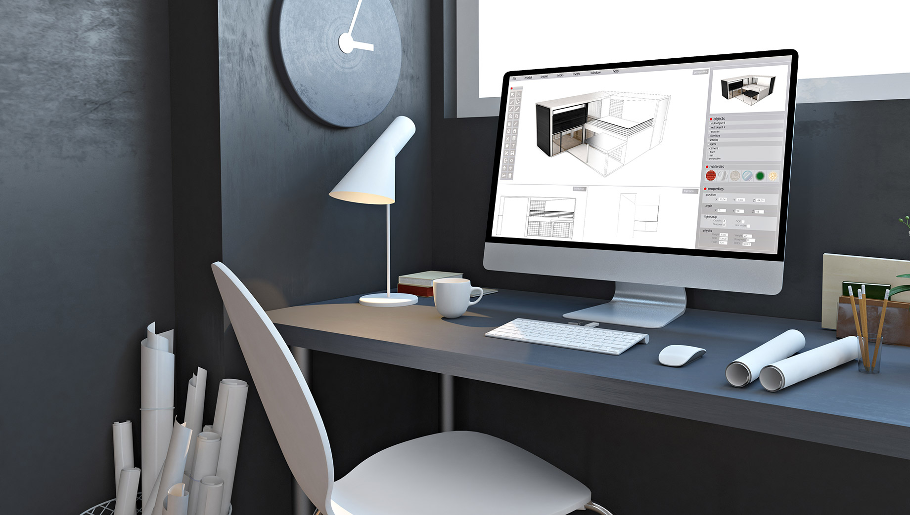 Home Design Software on iMac