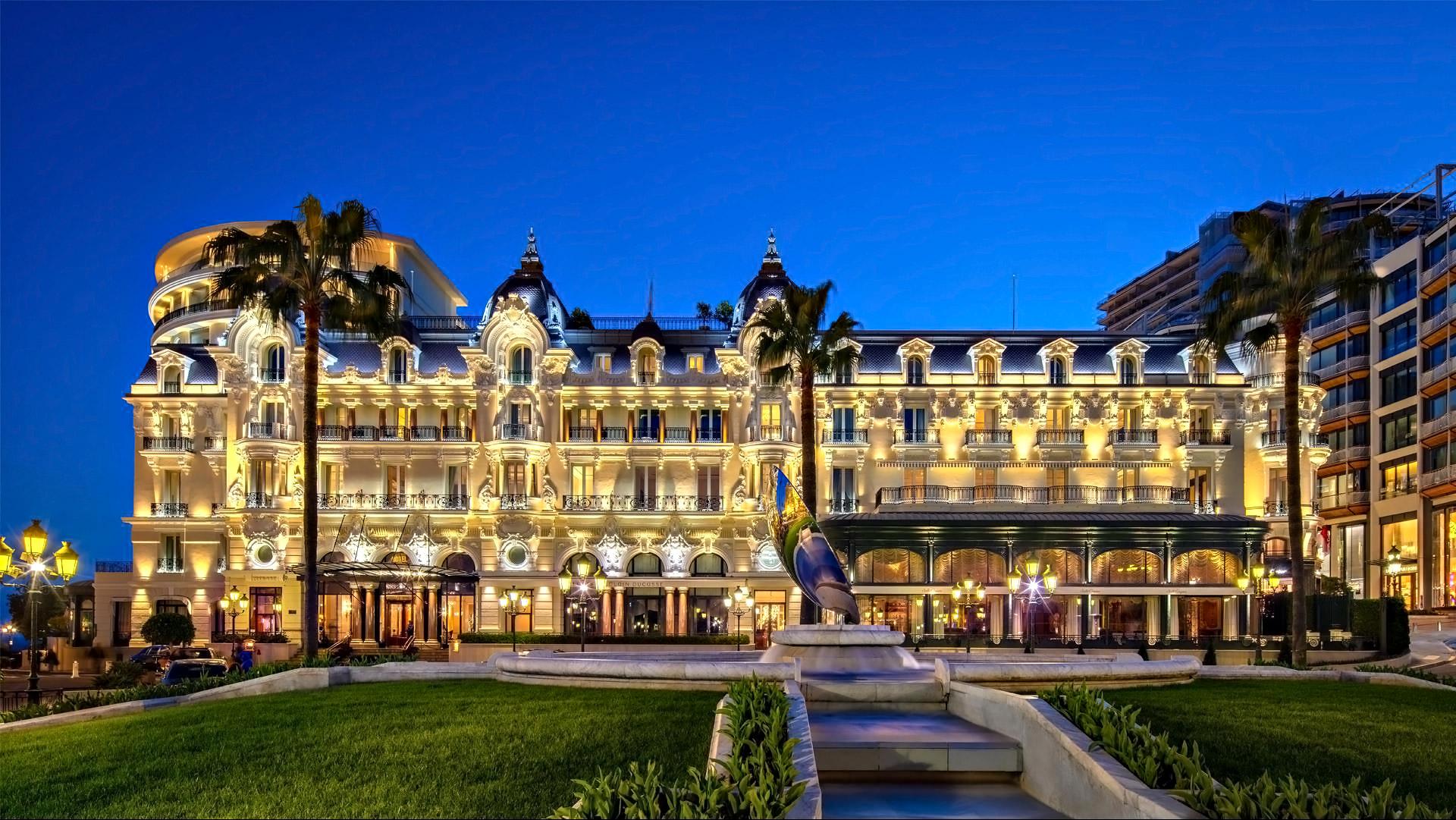 Hôtel de Paris and Place du Casino, Monte Carlo, Monaco