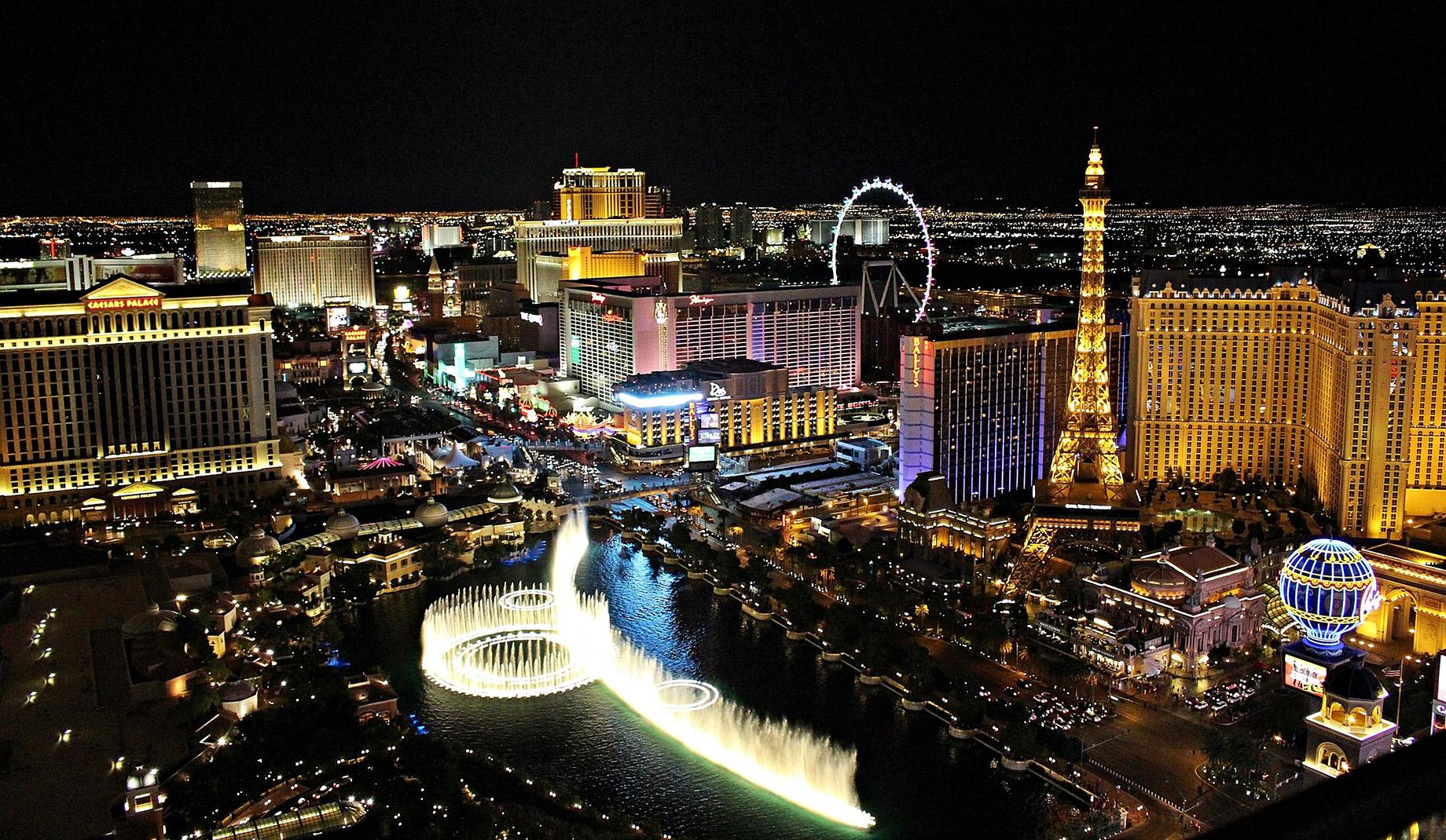 Las Vegas Casinos at Night