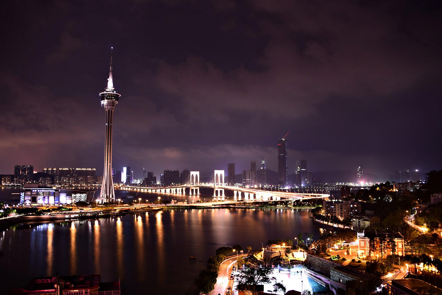 Macau, China at Night