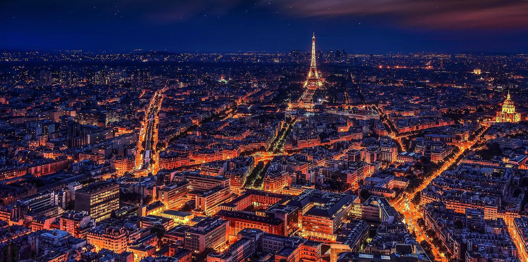 Paris, France at Night