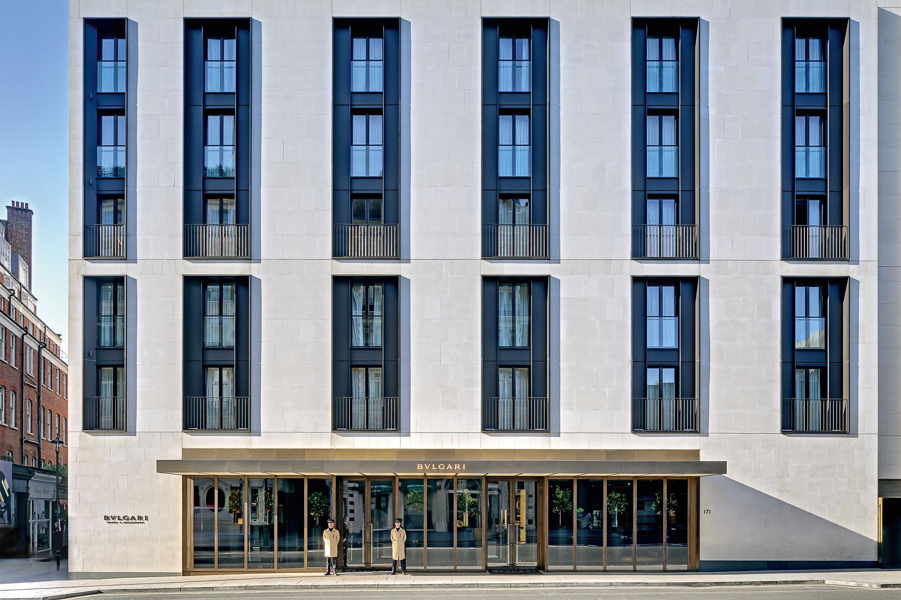 Bvlgari Luxury Hotel London - Knightsbridge, London, UK - Hotel Front Facade