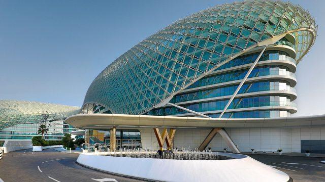 W Abu Dhabi Yas Island Luxury Hotel - Abu Dhabi, UAE - W Hotel Exterior